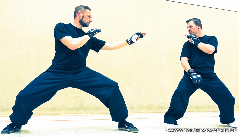 Dirk und Markus unsere Trainingsleiter für Kampfanwendungen und Sparring