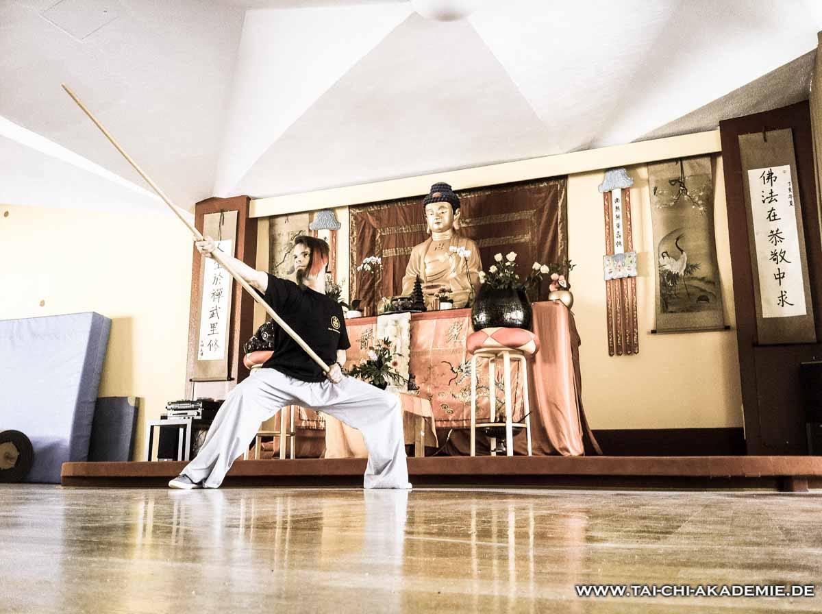Die Stockform nach der Korrektur durch Meister Shi Yan Yao.