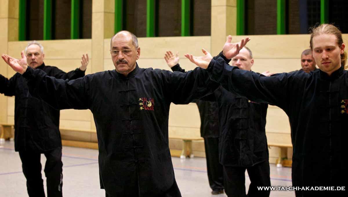Bewegung in perfekter Harmonie, Meister Rondalli beim Tai Chi Chuan im Yang-Stil