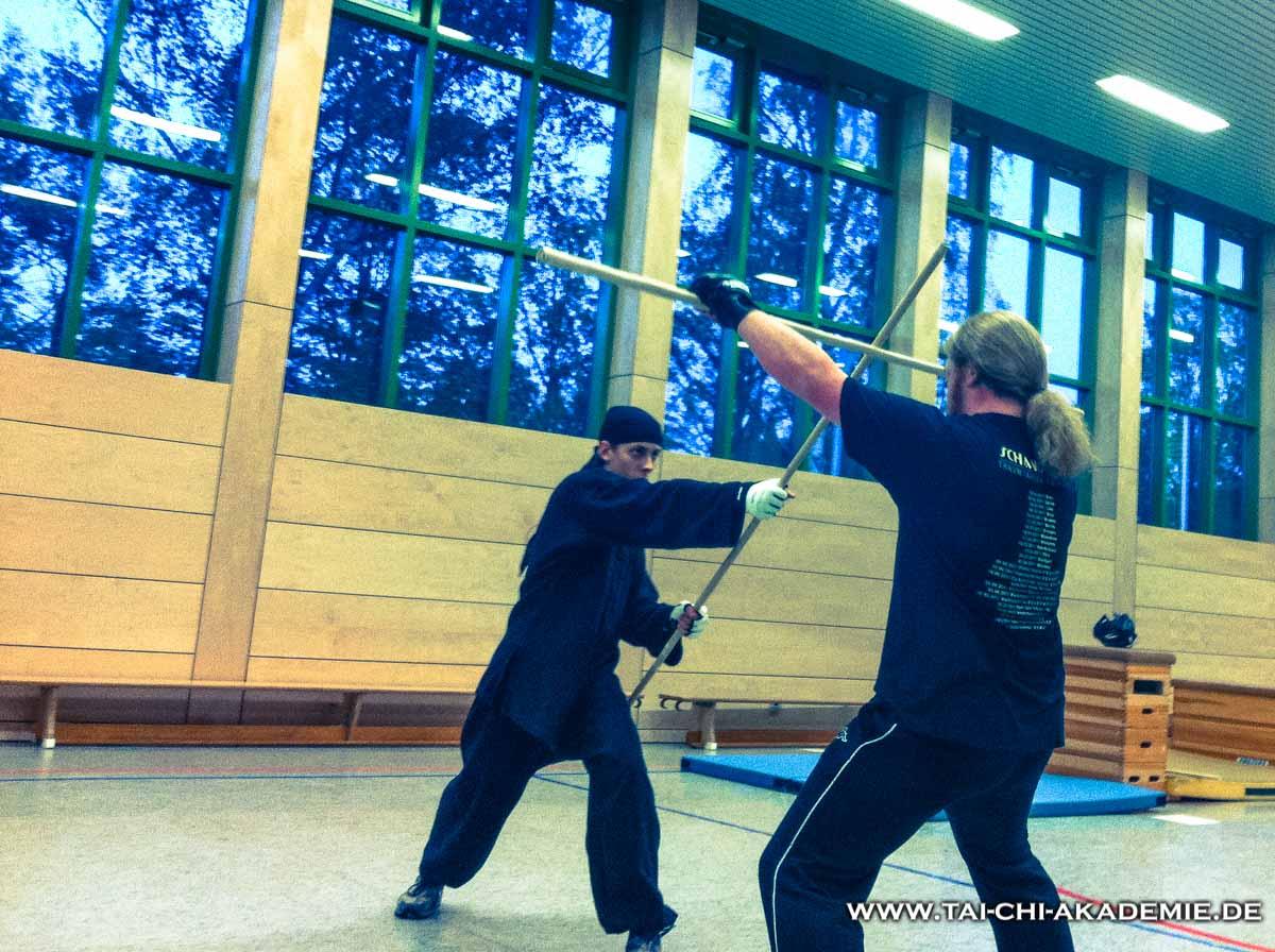 Aktives Kampftraining in der Tai Chi Akademie Kaiserslautern.