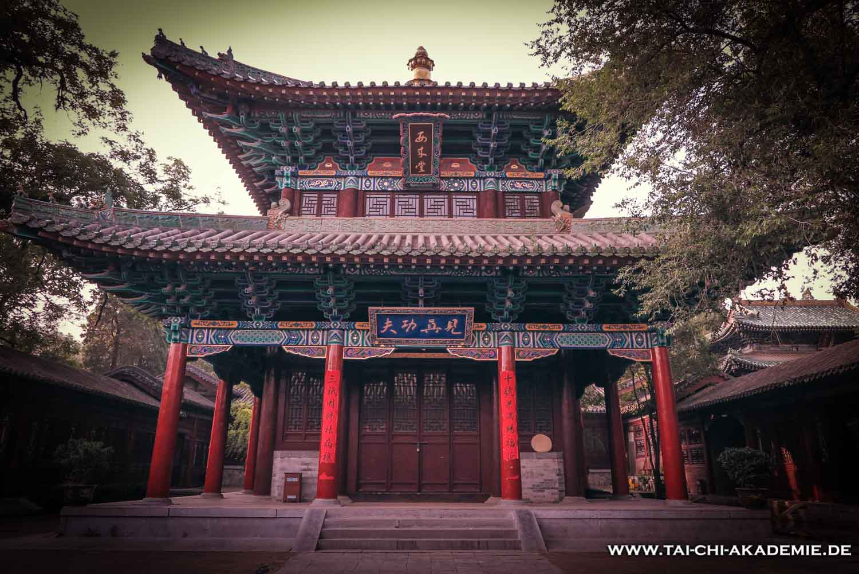 Auch im Shaolintempel in China durfte Jörg seine Tai Chi Kenntnisse vertiefen